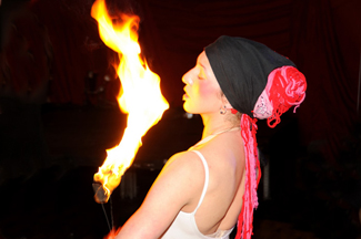 Flame performers